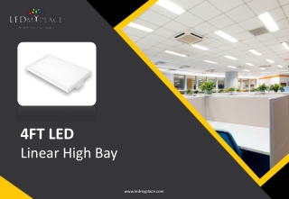 8 Ways 4ft LED Linear High Bay Can Improve Your Office Lighting
