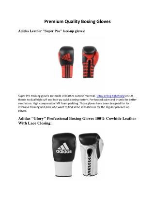 Premium Quality Boxing Gloves