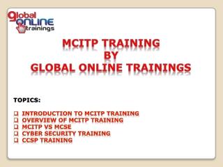 MCITP Training | MCITP Certification Online Course