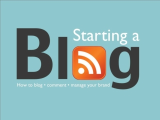 Blogging & Managing your Personal Brand