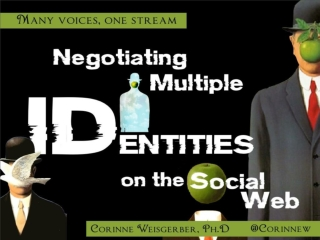 Negotiating multiple identities on the social web