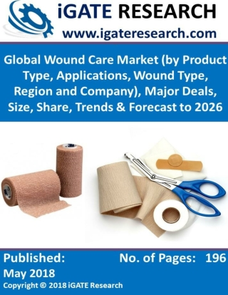 Global Wound Care Market (by Product Type, Applications, Wound Type, Region and Company), Major Deals, Size, Share, Tren