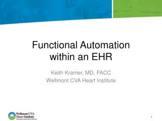 Functional Automation  within an EHR