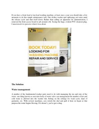 Washing machine repair bangalore