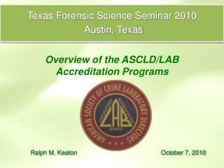 Texas Forensic Science Seminar 2010
