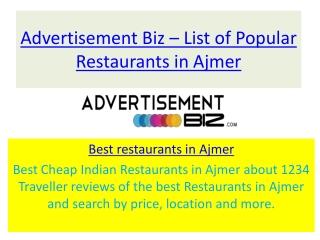best restaurants in ajmer