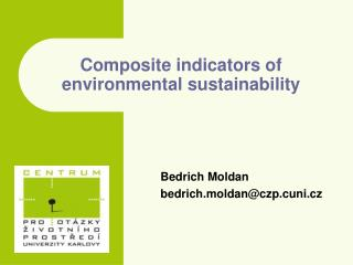 Composite indicators of environmental sustainability