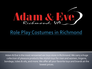 Role Play Costumes in Richmond