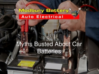 Myths Busted About Car Batteries