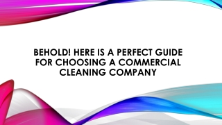 Commercial Office Cleaning Services St. Petersburg