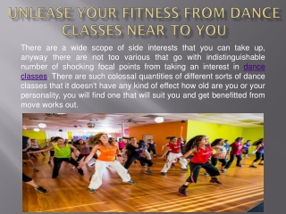 Unlease Your Fitness From Dance Classes Near To You