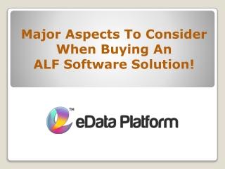 Assisted Living - eData Platform