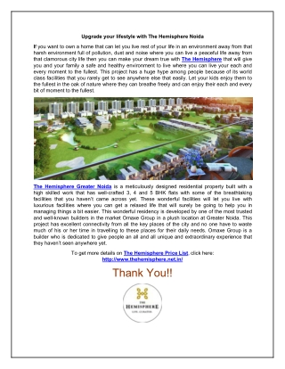 Live a Royale Life with The Hemisphere Noida