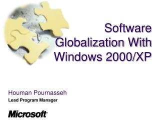 Software Globalization With Windows 2000/XP