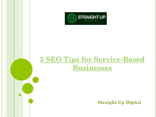 5 SEO Tips for Service-Based Businesses