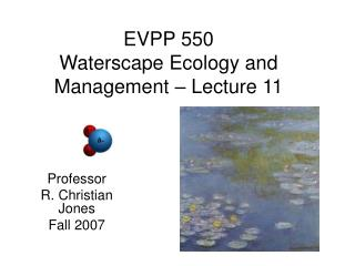 EVPP 550 Waterscape Ecology and Management – Lecture 11