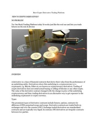 Best Crypto Derivative Trading Platform