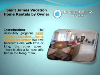 Saint James Vacation Home Rentals by Owner