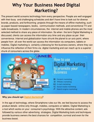 Best Digital Marketing Company in Noida - ZainexxTechnologies