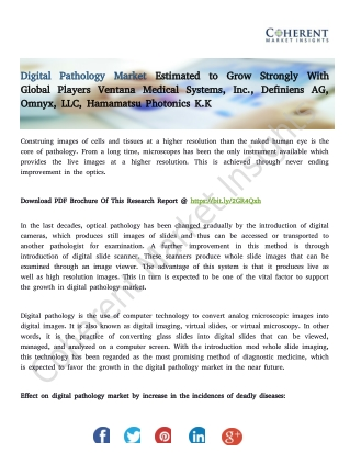 Digital Pathology Market – Global Industry Insights, Trends, Outlook, and Opportunity Analysis, 2018-2026