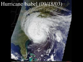 Hurricane Isabel (09/18/03)
