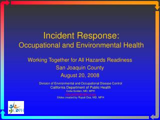Incident Response: Occupational and Environmental Health