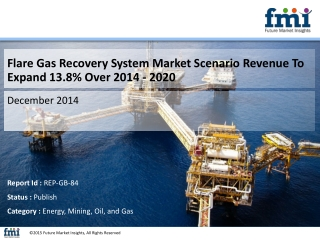 Flare Gas Recovery System Market Is Expected To Register a CAGR of 13.8% during 2014 - 2020