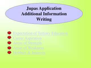 Jupas Application Additional Information Writing