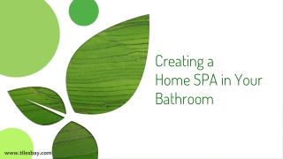 Design Ideas Home SPA in your Bathroom