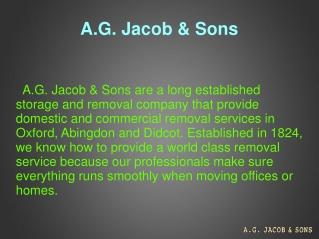 AG Jacob & Sons