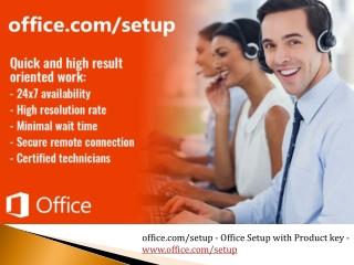 office.com/setup - Office Setup with Product key - www.office.com/setup