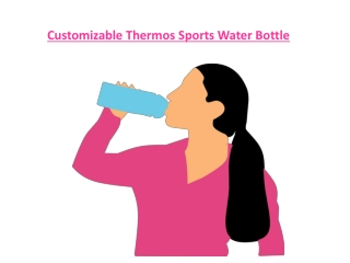 Customizable Thermos Sports Water Bottle