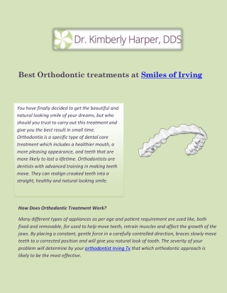 Get Beautiful smile at Orthodontist Irving Tx
