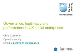 Governance, legitimacy and performance in UK social enterprises