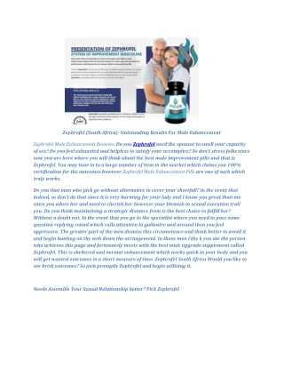 Zephrofel (South Africa) - How To Increase Stamina