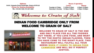 Welcome To Grain Of Salt Cooks The Best Indian Food In Ontario