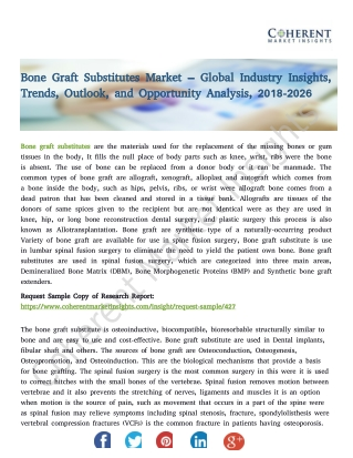 Bone Graft Substitutes Market – Global Industry Insights, Trends, and Analysis, 2018-2026