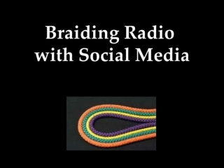 Braiding Radio with Social Media