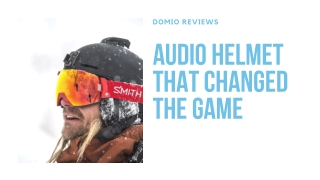 Domio Reviews - Audio Helmet That Changed the Game