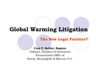 Global Warming Litigation