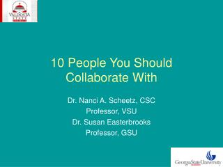 10 People You Should Collaborate With