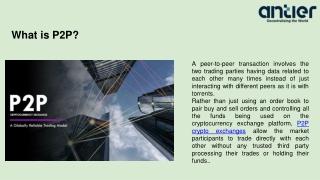 Decentralized Peer To Peer Cryptocurrency Exchange Development Service