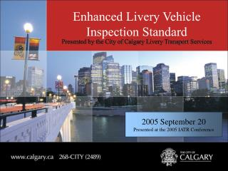 Enhanced Livery Vehicle Inspection Standard
