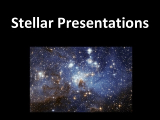 Stellar Presentations for SARTA