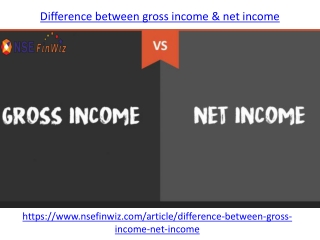 Difference between gross income & net income