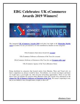 EBG Celebrates: UK eCommerce Awards 2019 Winners! | eBusiness Guru
