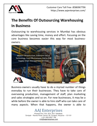 The Benefits Of Outsourcing Warehousing In Business