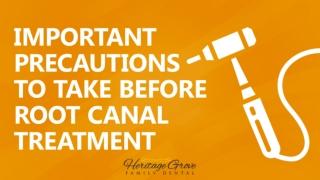 Important Precautions to Take Before Root Canal Treatment