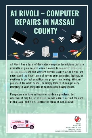 A1 Rivoli – Computer Repairs in Nassau County