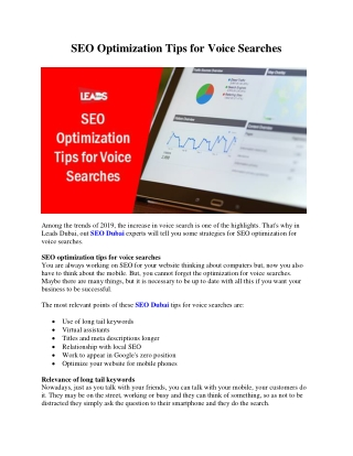 SEO Optimization Tips for Voice Searches